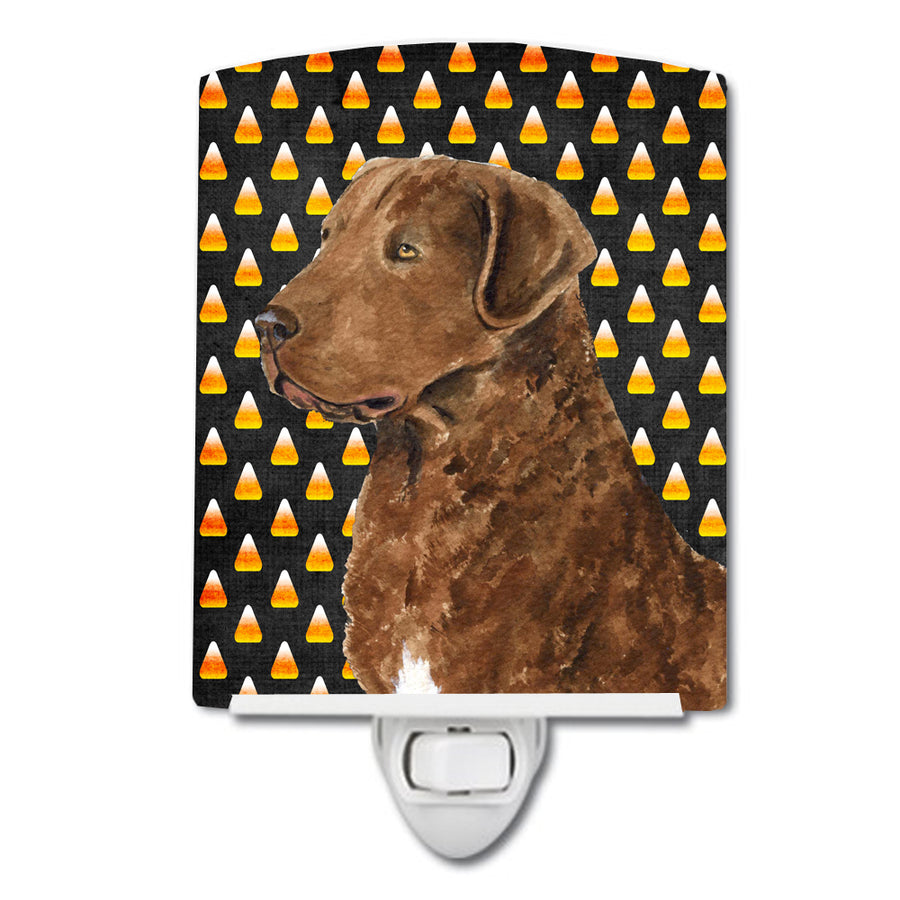 Buy this Chesapeake Bay Retriever Wheaten Candy Corn Halloween Portrait Ceramic Night Light SS4324CNL