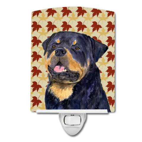 Buy this Rottweiler Fall Leaves Portrait Ceramic Night Light SS4332CNL