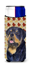 Rottweiler Fall Leaves Portrait Ultra Beverage Insulators for slim cans SS4332MUK by Caroline's Treasures