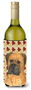 Buy this Bullmastiff Fall Leaves Portrait Wine Bottle Beverage Insulator Beverage Insulator Hugger