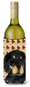 Gordon Setter Fall Leaves Portrait Wine Bottle Beverage Insulator Beverage Insulator Hugger by Caroline's Treasures