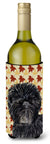 Affenpinscher Fall Leaves Portrait Wine Bottle Beverage Insulator Beverage Insulator Hugger by Caroline's Treasures