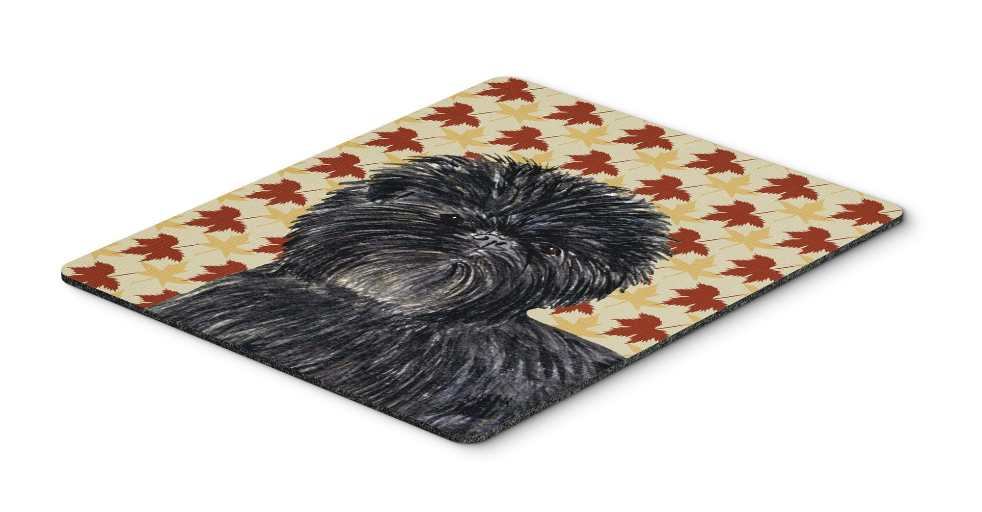 Affenpinscher Fall Leaves Portrait Mouse Pad, Hot Pad or Trivet by Caroline's Treasures