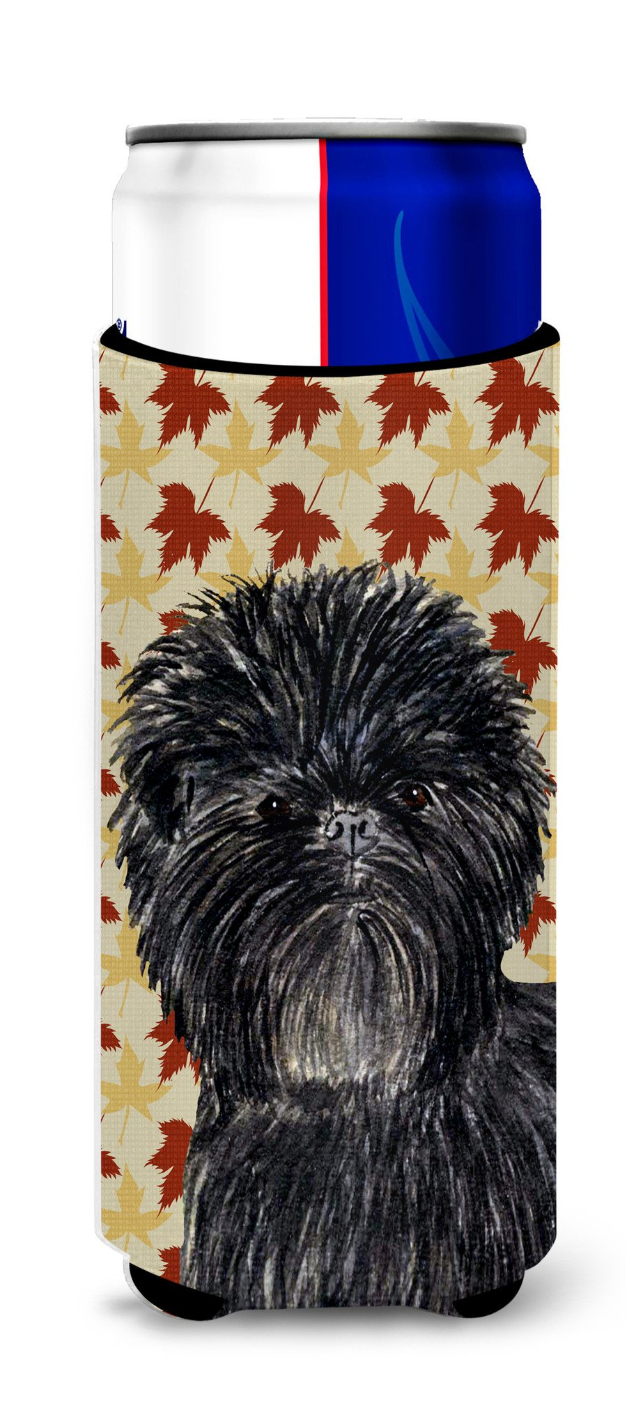 Affenpinscher Fall Leaves Portrait Ultra Beverage Insulators for slim cans SS4345MUK by Caroline's Treasures