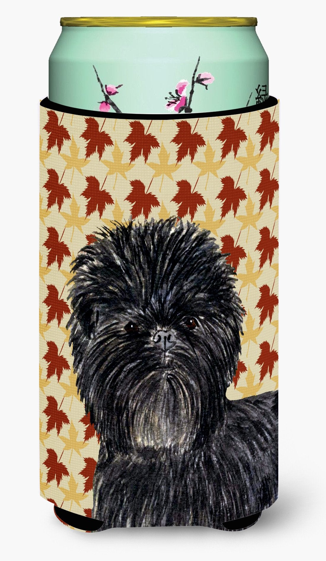 Affenpinscher Fall Leaves Portrait  Tall Boy Beverage Insulator Beverage Insulator Hugger by Caroline's Treasures