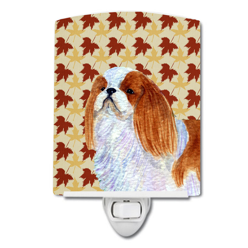 Buy this English Toy Spaniel Fall Leaves Portrait Ceramic Night Light SS4349CNL
