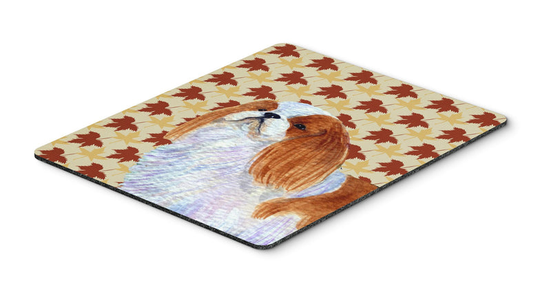 Buy this English Toy Spaniel Fall Leaves Portrait Mouse Pad, Hot Pad or Trivet