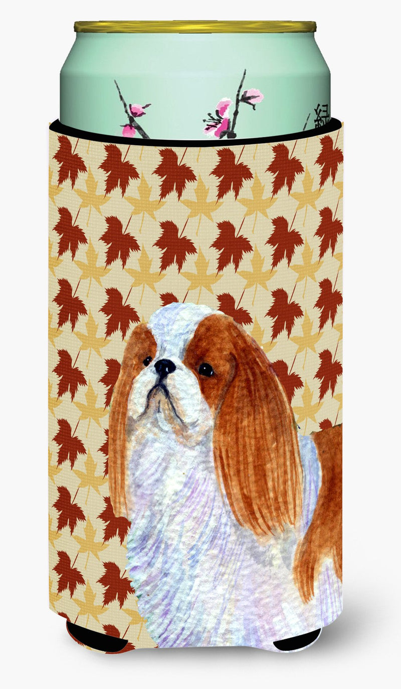 Buy this English Toy Spaniel Fall Leaves Portrait  Tall Boy Beverage Insulator Beverage Insulator Hugger