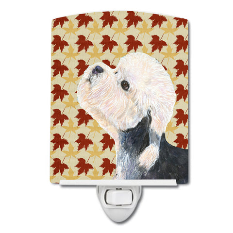 Buy this Dandie Dinmont Terrier Fall Leaves Portrait Ceramic Night Light SS4353CNL