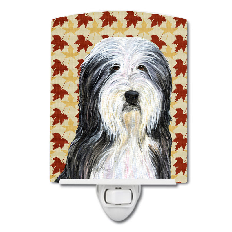 Buy this Bearded Collie Fall Leaves Portrait Ceramic Night Light SS4359CNL