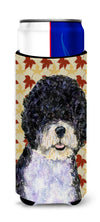 Portuguese Water Dog Fall Leaves Portrait Ultra Beverage Insulators for slim cans SS4366MUK by Caroline's Treasures