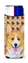 Corgi Fall Leaves Portrait Ultra Beverage Insulators for slim cans SS4370MUK by Caroline's Treasures
