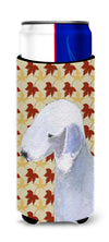 Bedlington Terrier Fall Leaves Portrait Ultra Beverage Insulators for slim cans SS4373MUK by Caroline's Treasures