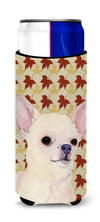Chihuahua Fall Leaves Portrait Ultra Beverage Insulators for slim cans SS4384MUK by Caroline's Treasures