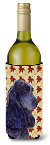 Cocker Spaniel Fall Leaves Portrait Wine Bottle Beverage Insulator Beverage Insulator Hugger SS4385LITERK by Caroline's Treasures