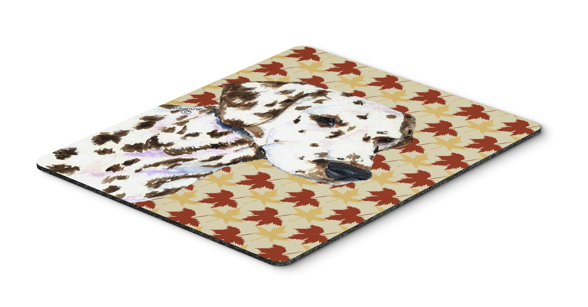 Dalmatian Fall Leaves Portrait Mouse Pad, Hot Pad or Trivet by Caroline's Treasures
