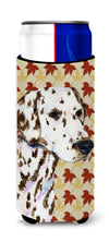 Dalmatian Fall Leaves Portrait Ultra Beverage Insulators for slim cans SS4387MUK by Caroline's Treasures