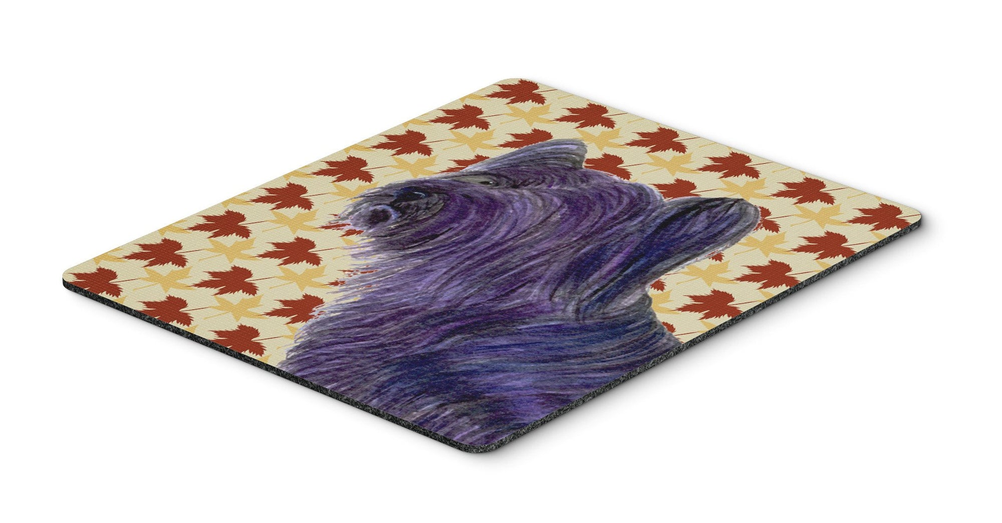 Skye Terrier Fall Leaves Portrait Mouse Pad, Hot Pad or Trivet by Caroline's Treasures