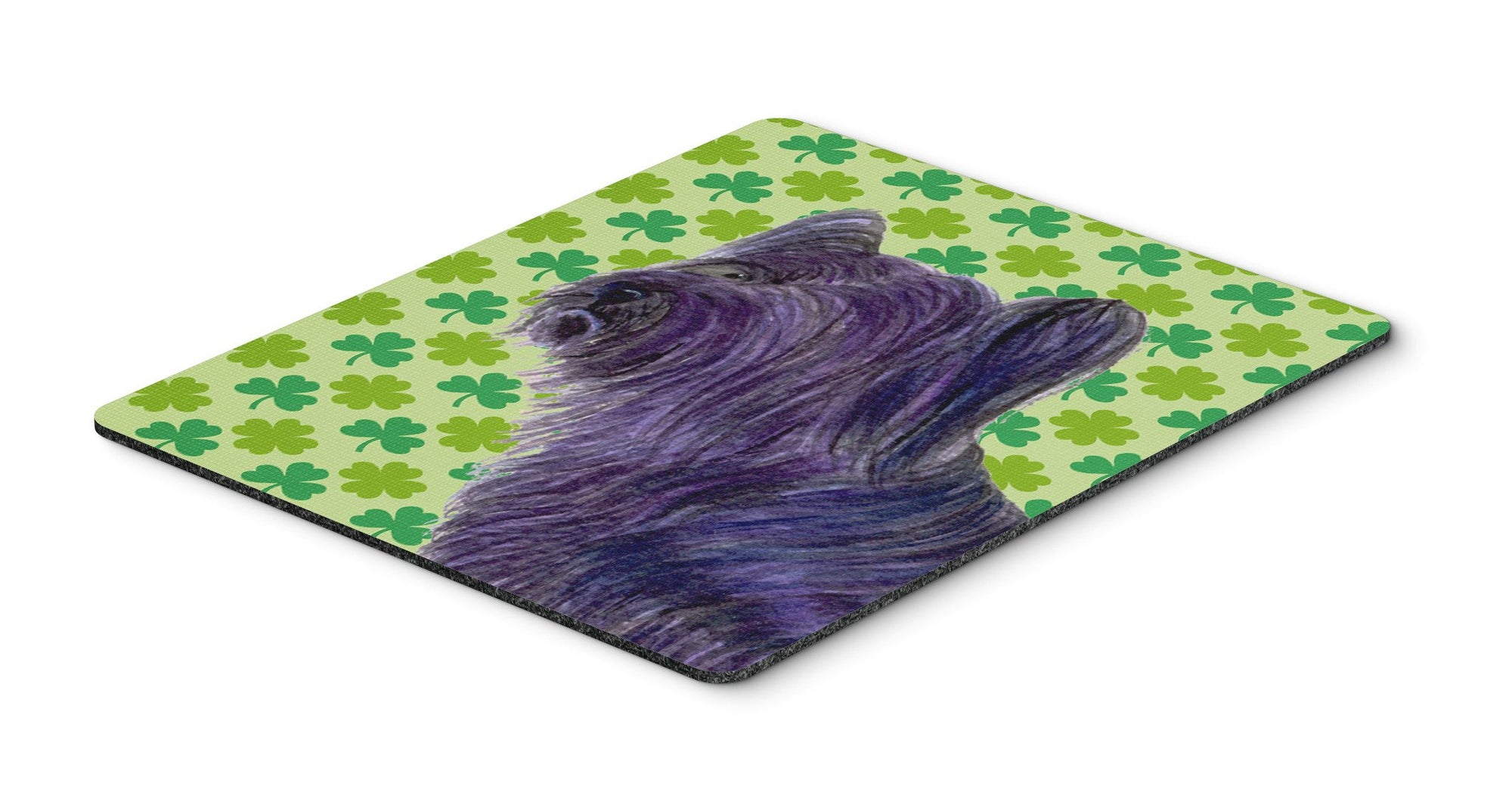 Skye Terrier St. Patrick's Day Shamrock Portrait Mouse Pad, Hot Pad or Trivet by Caroline's Treasures
