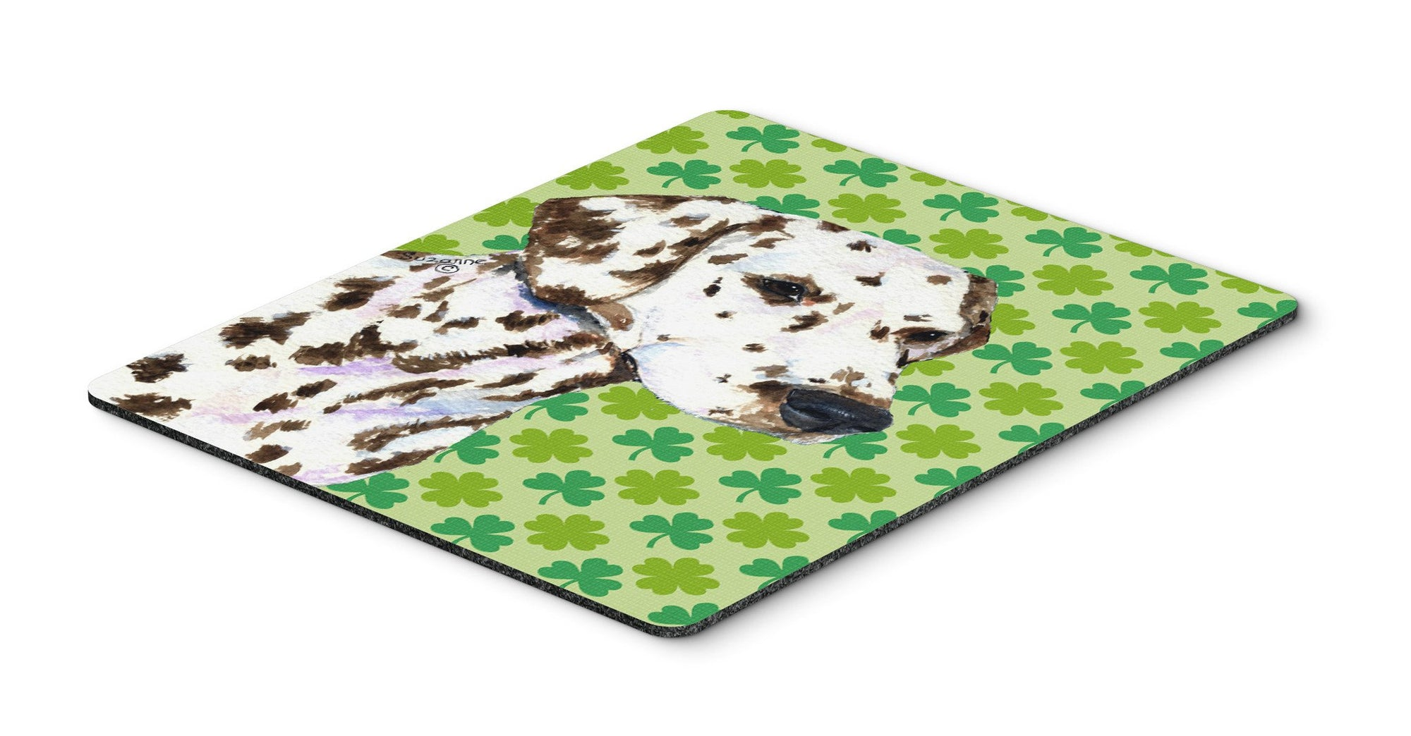 Dalmatian St. Patrick's Day Shamrock Portrait Mouse Pad, Hot Pad or Trivet by Caroline's Treasures