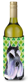 Buy this Schnauzer St. Patrick's Day Shamrock  Wine Bottle Beverage Insulator Beverage Insulator Hugger