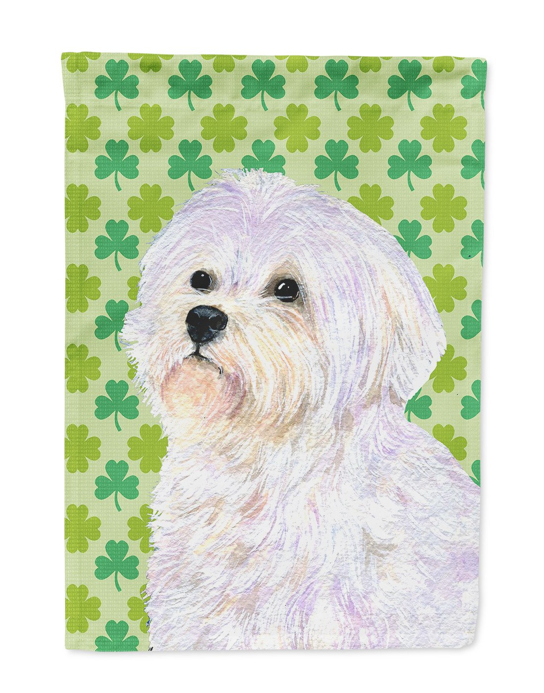 Maltese St. Patrick's Day Shamrock Portrait Flag Garden Size - the-store.com