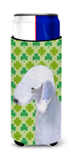 Bedlington Terrier St. Patrick's Day Shamrock Portrait Ultra Beverage Insulators for slim cans SS4414MUK by Caroline's Treasures