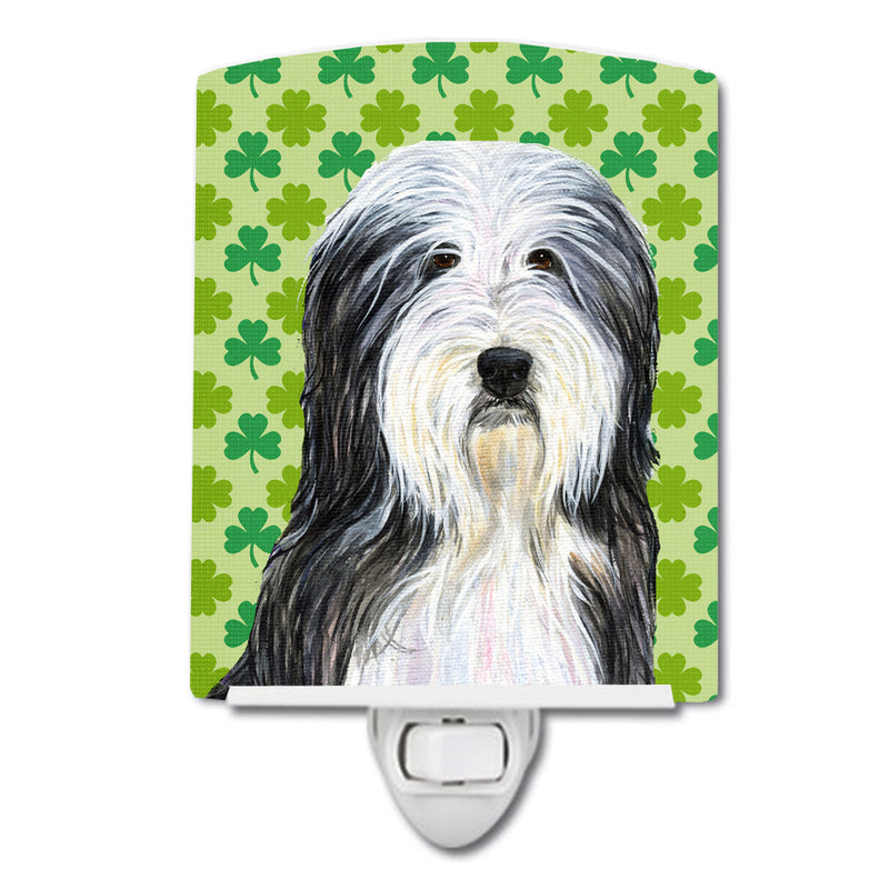 Buy this Bearded Collie St. Patrick's Day Shamrock Portrait Ceramic Night Light SS4428CNL