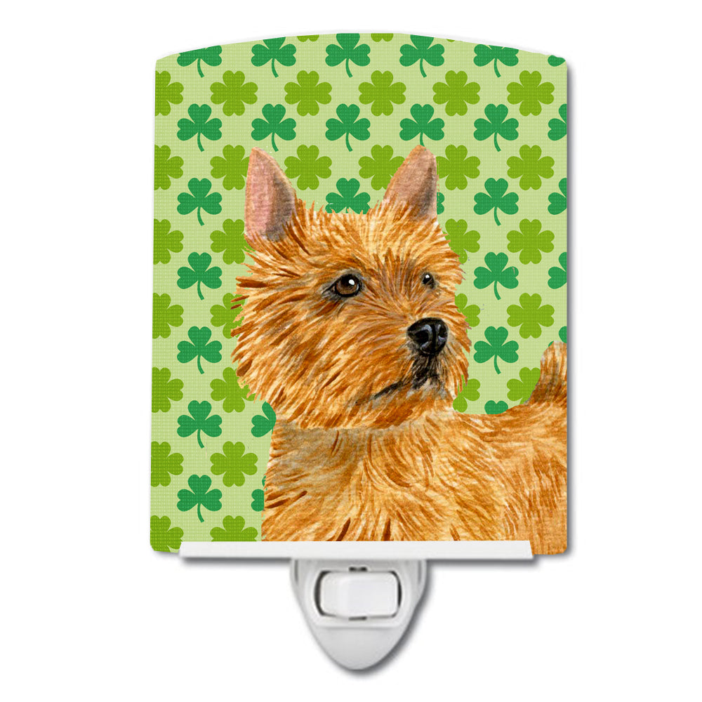 Buy this Norwich Terrier St. Patrick's Day Shamrock Portrait Ceramic Night Light SS4430CNL
