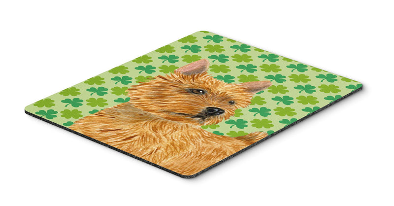 Norwich Terrier St. Patrick's Day Shamrock Mouse Pad, Hot Pad or Trivet by Caroline's Treasures