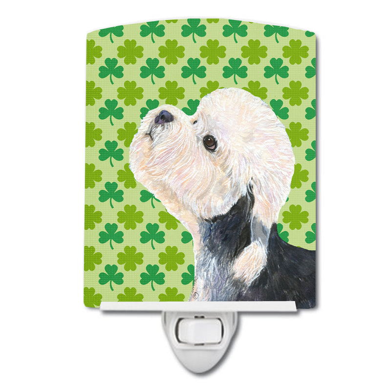 Buy this Dandie Dinmont Terrier St. Patrick's Day Shamrock Ceramic Night Light SS4434CNL