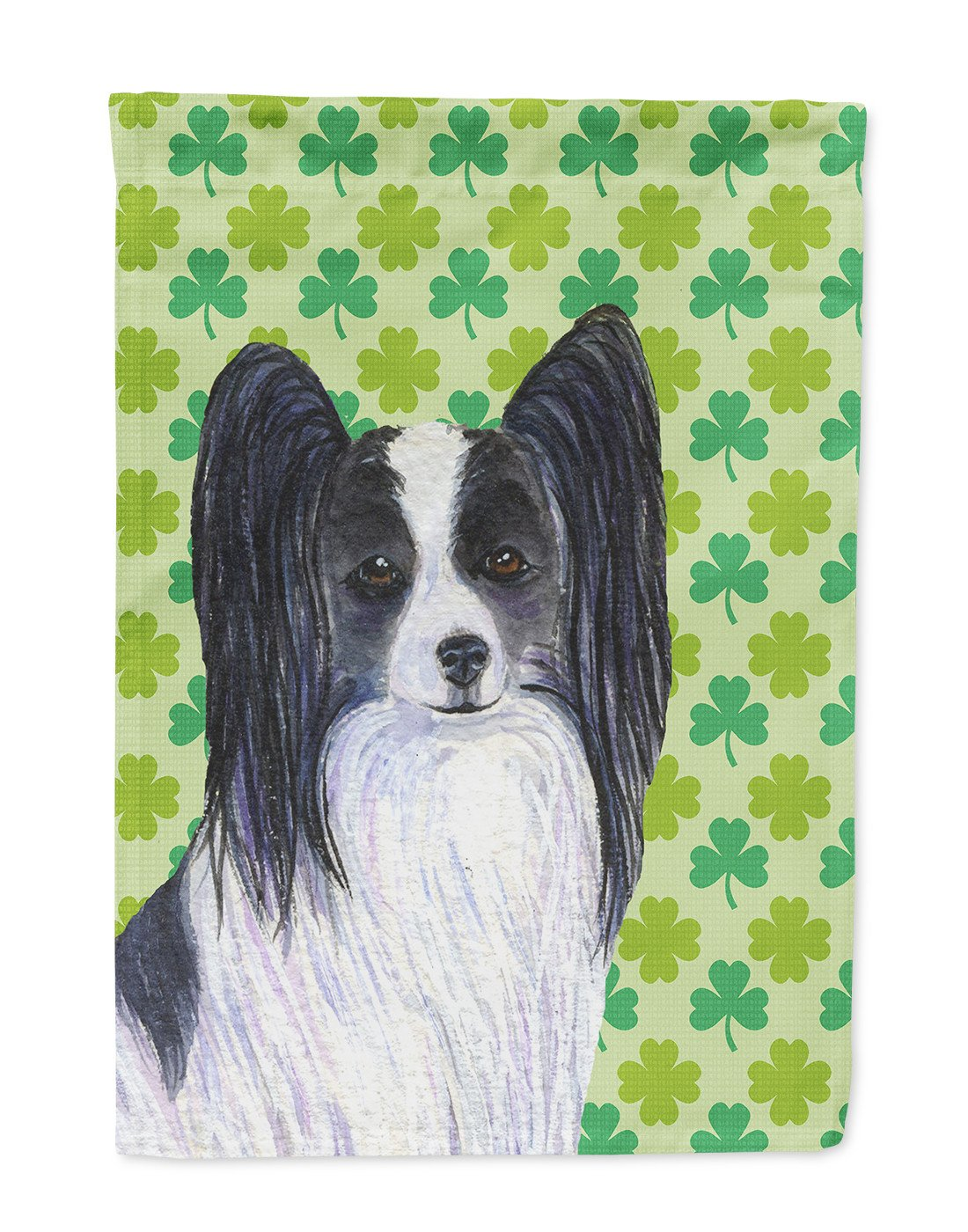 Buy this Papillon St. Patrick's Day Shamrock Portrait Flag Garden Size