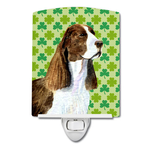 Buy this Springer Spaniel St. Patrick's Day Shamrock Portrait Ceramic Night Light SS4444CNL