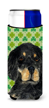 Gordon Setter St. Patrick's Day Shamrock Portrait Ultra Beverage Insulators for slim cans SS4446MUK by Caroline's Treasures