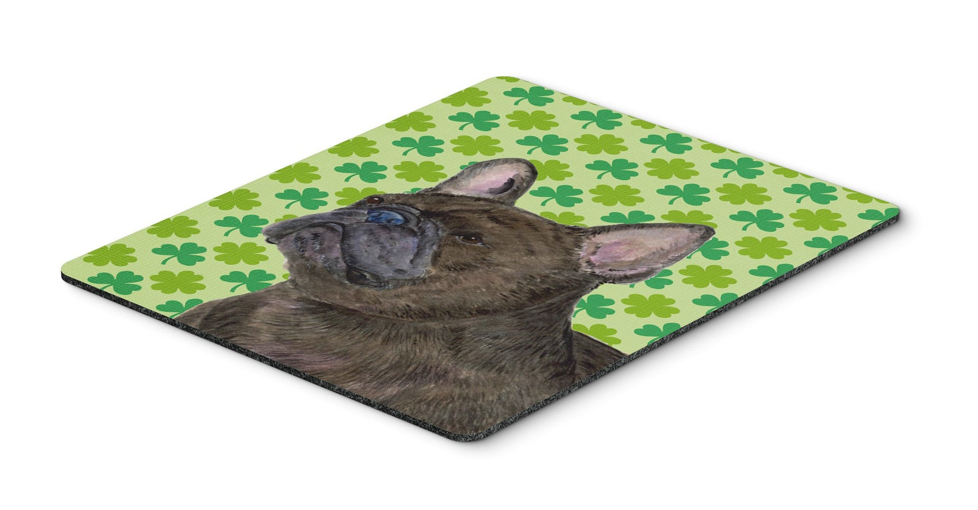 Buy this French Bulldog St. Patrick's Day Shamrock Portrait Mouse Pad, Hot Pad or Trivet