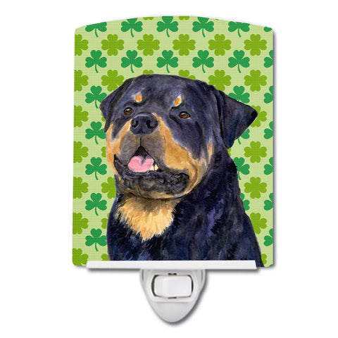 Buy this Rottweiler St. Patrick's Day Shamrock Portrait Ceramic Night Light SS4455CNL