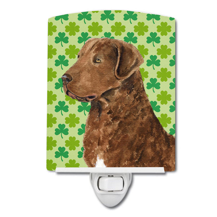 Buy this Chesapeake Bay Retriever St. Patrick's Day Shamrock Portrait Ceramic Night Light SS4462CNL