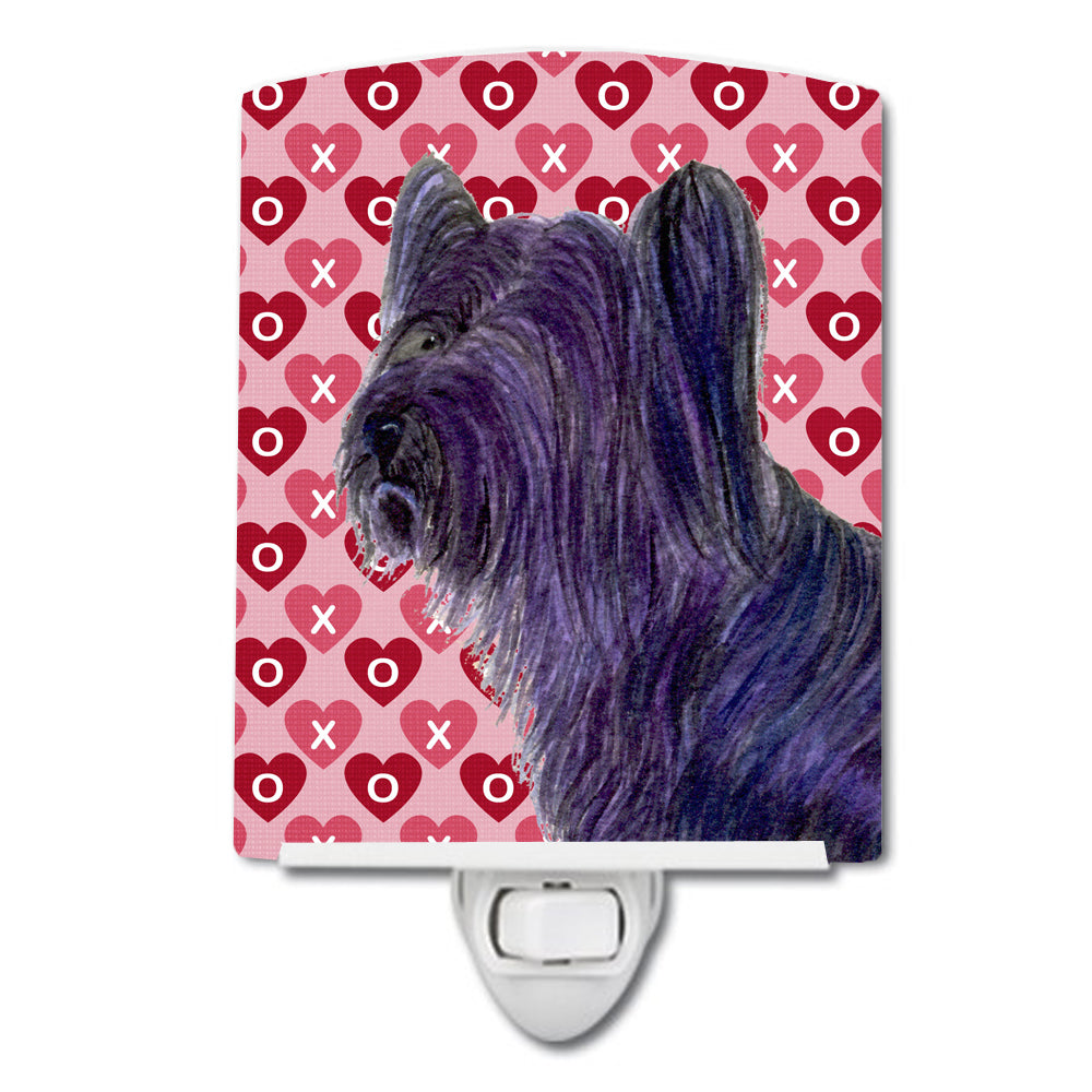 Buy this Skye Terrier Hearts Love and Valentine's Day Portrait Ceramic Night Light SS4463CNL