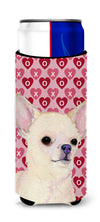 Chihuahua Hearts Love and Valentine's Day Portrait Ultra Beverage Insulators for slim cans SS4472MUK by Caroline's Treasures