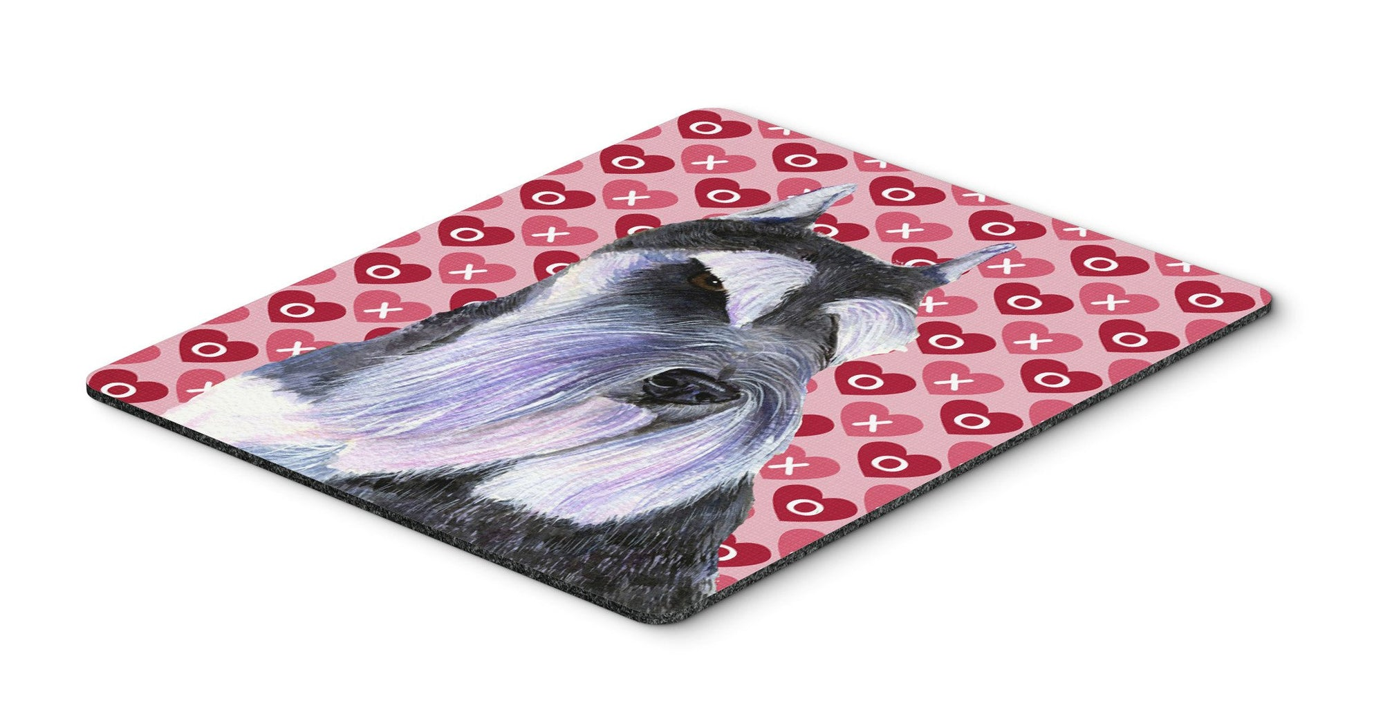 Schnauzer Hearts Love and Valentine's Day Portrait Mouse Pad, Hot Pad or Trivet by Caroline's Treasures