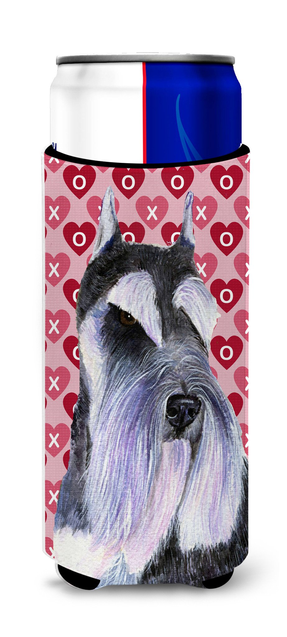 Schnauzer Hearts Love and Valentine's Day Portrait Ultra Beverage Insulators for slim cans SS4477MUK by Caroline's Treasures