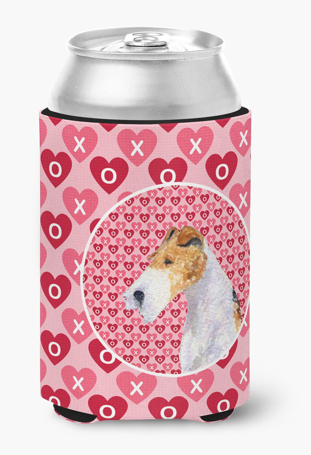 Fox Terrier  Can or Bottle Beverage Insulator Hugger by Caroline's Treasures