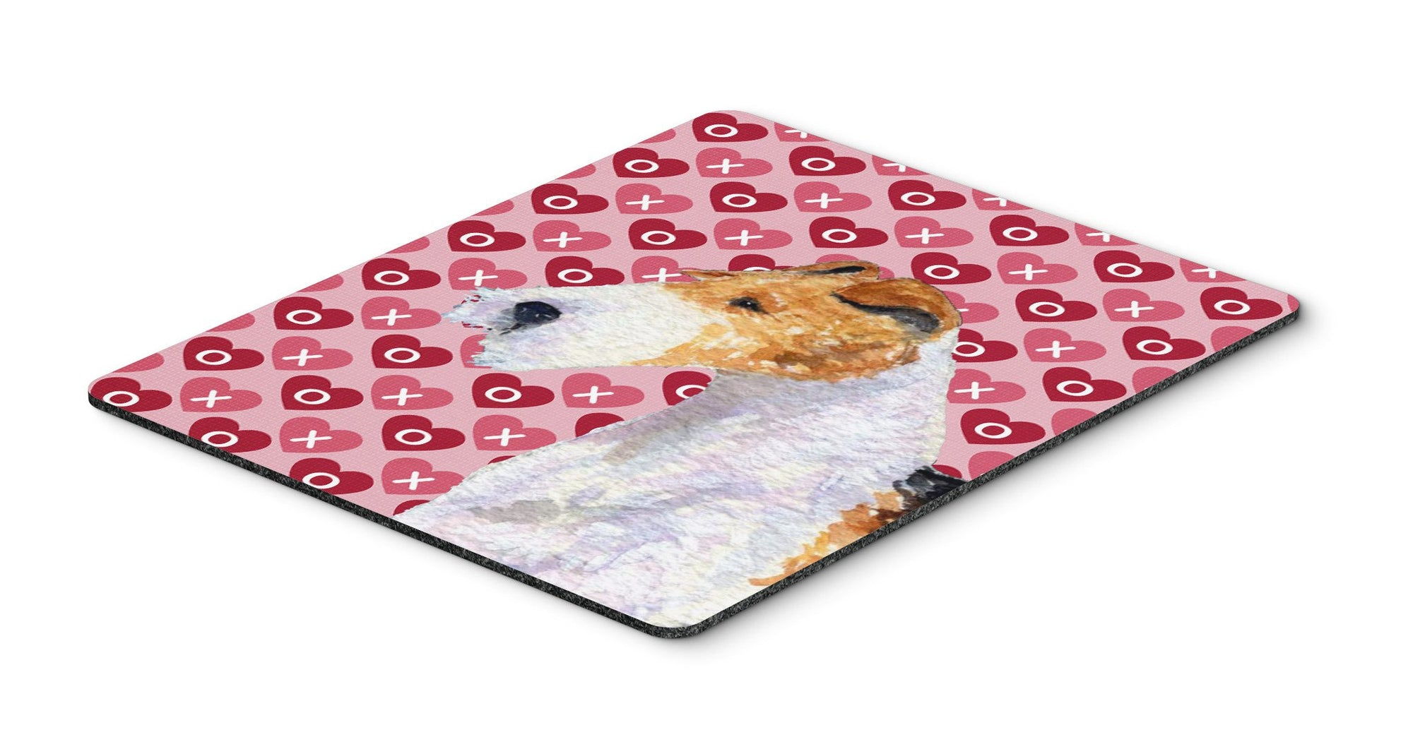 Fox Terrier Hearts Love and Valentine's Day Mouse Pad, Hot Pad or Trivet by Caroline's Treasures