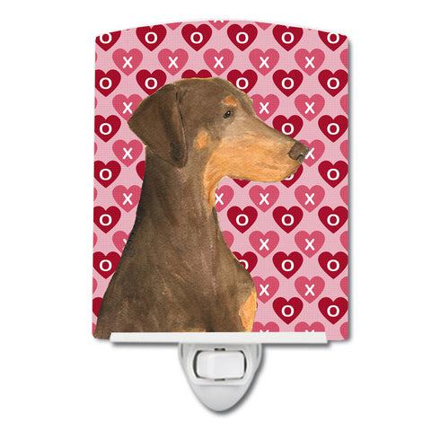 Buy this Doberman Hearts Love and Valentine's Day Portrait Ceramic Night Light SS4479CNL