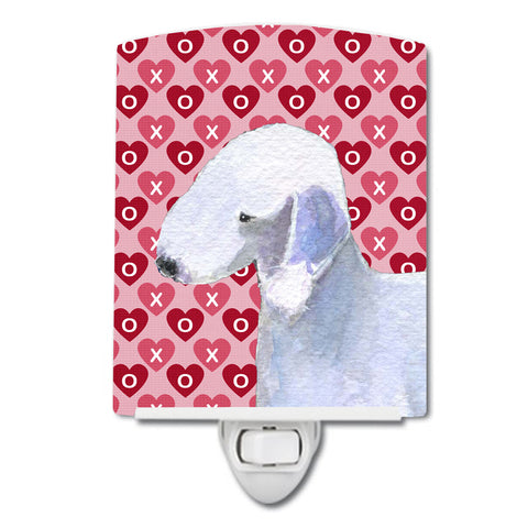 Buy this Bedlington Terrier Hearts Love and Valentine's Day Portrait Ceramic Night Light SS4483CNL