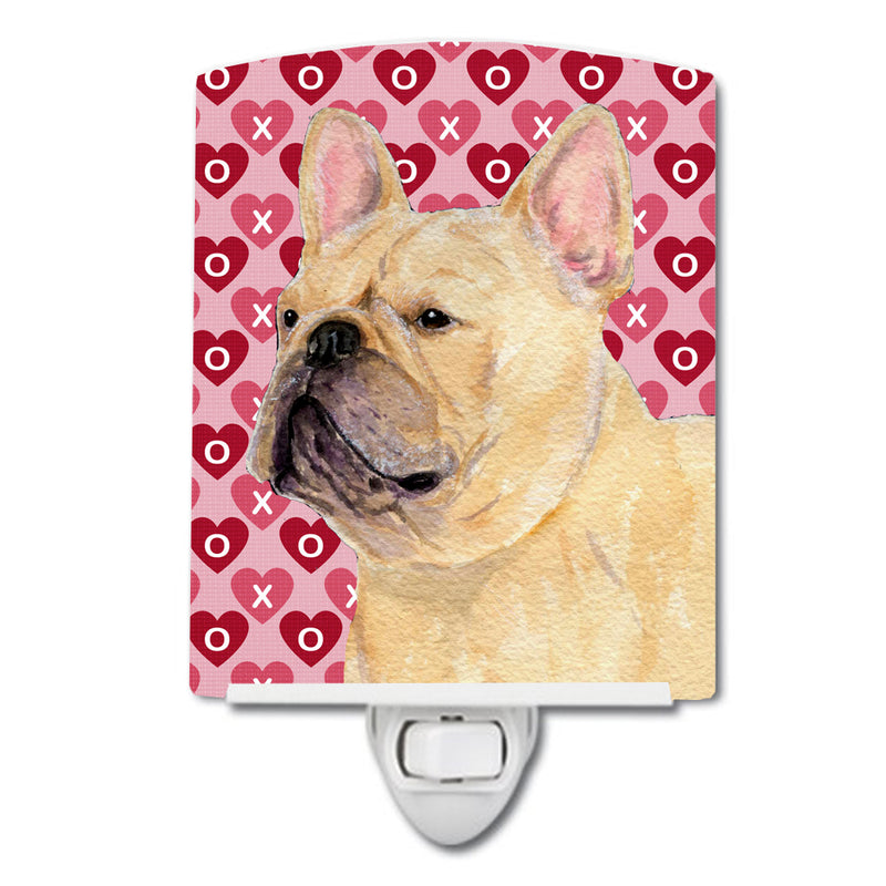 Buy this French Bulldog Hearts Love and Valentine's Day Portrait Ceramic Night Light SS4485CNL