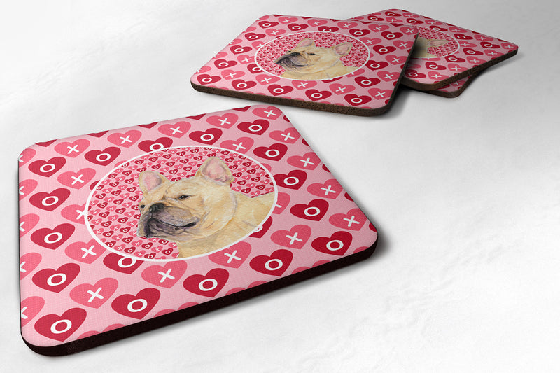 Buy this Set of 4 French Bulldog  Foam Coasters