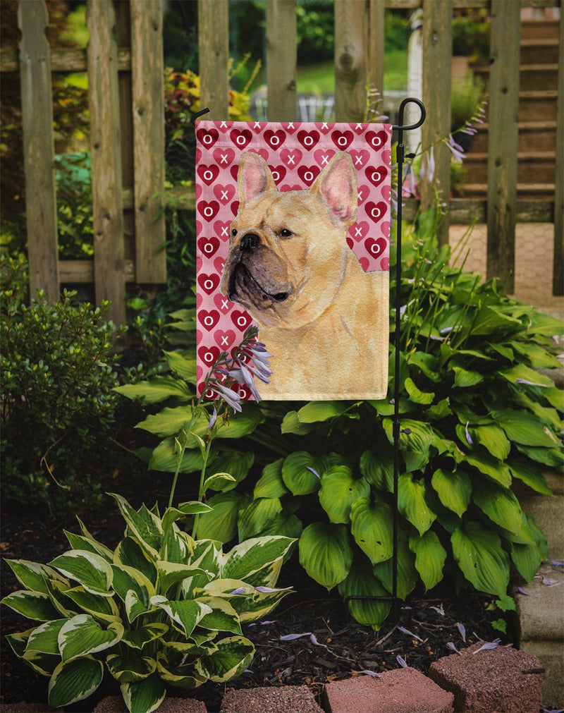 Buy this French Bulldog Hearts Love and Valentine's Day Portrait Flag Garden Size