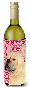Buy this French Bulldog Hearts Love  Valentine's Day Portrait Wine Bottle Beverage Insulator Beverage Insulator Hugger