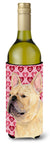 French Bulldog Hearts Love  Valentine's Day Portrait Wine Bottle Beverage Insulator Beverage Insulator Hugger by Caroline's Treasures